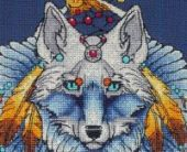 "Cross stitch pattern ""Wolf2""."