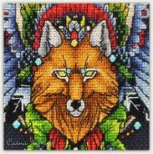"Cross stitch pattern ""Fox1""."