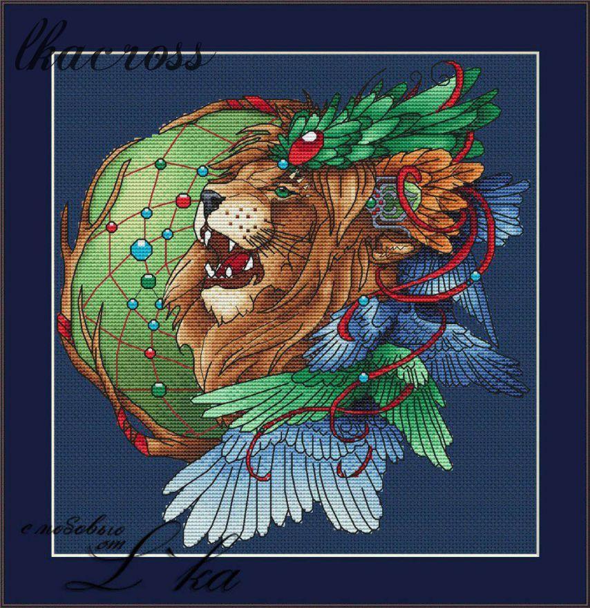 """Lion2"". Digital cross stitch pattern."