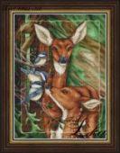 """Cross stitch pattern """"Deer""""."""