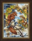 "Cross stitch pattern ""Squirrel""."