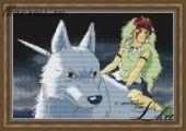 "Cross stitch pattern ""Princess Mononoke""."