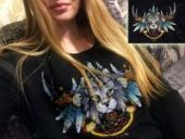 "Cross stitch pattern ""Lynx""."