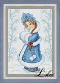 "Cross stitch pattern ""Snowgirl""."