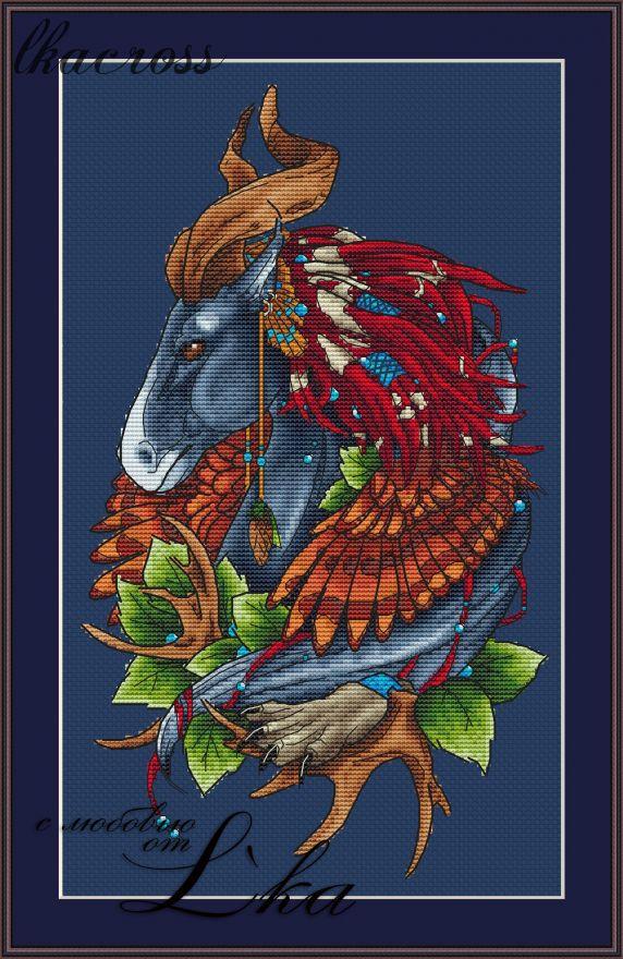 """Horse"". Digital cross stitch pattern."