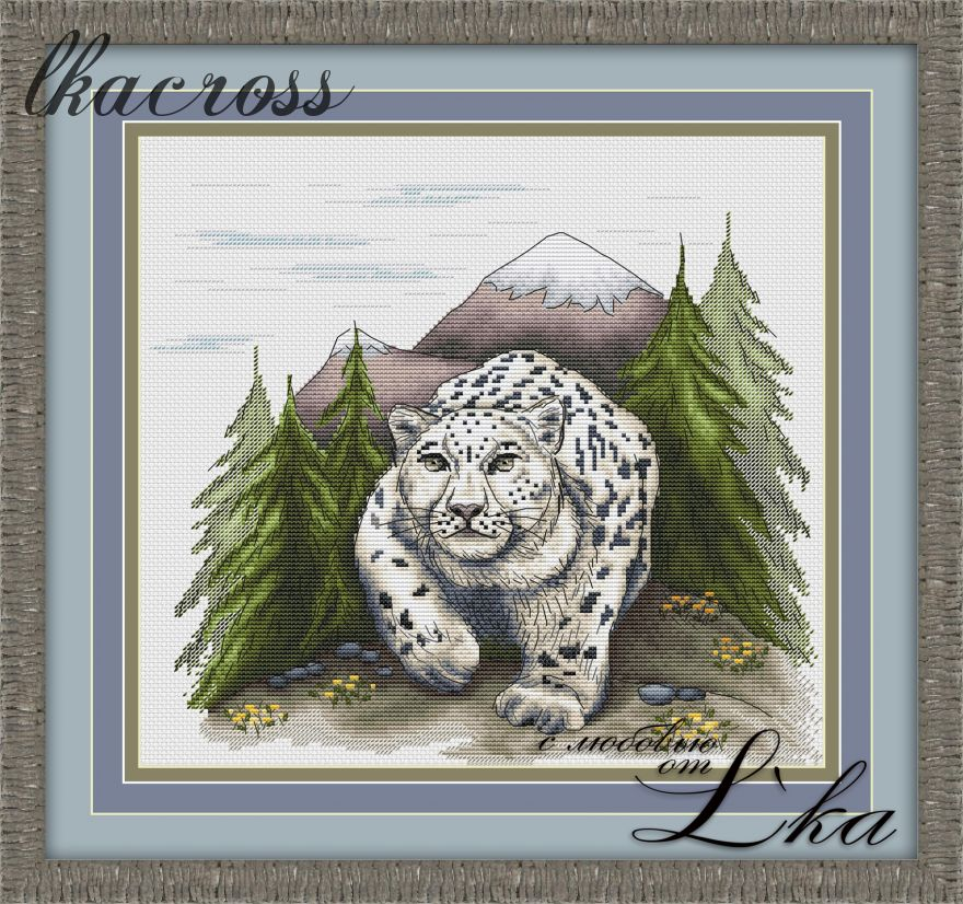 """Irbis"". Digital cross stitch pattern."