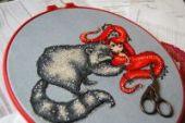 "Cross stitch pattern ""Rosalva""."