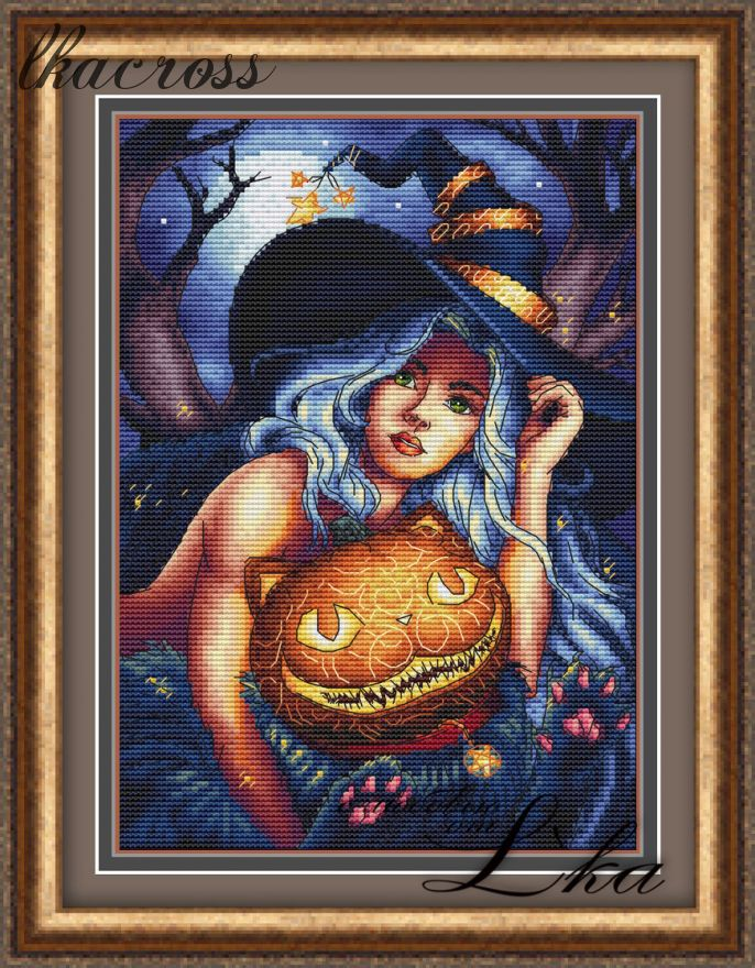 """Enchantress"". Digital cross stitch pattern."