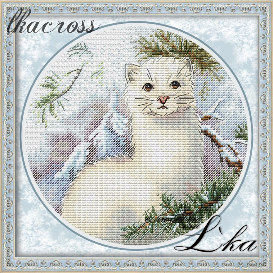 """Weasel"". Digital cross stitch pattern."