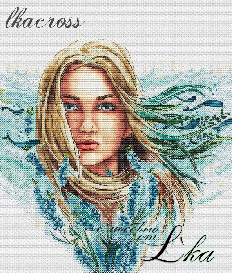 """Wind of change"". Digital cross stitch pattern."