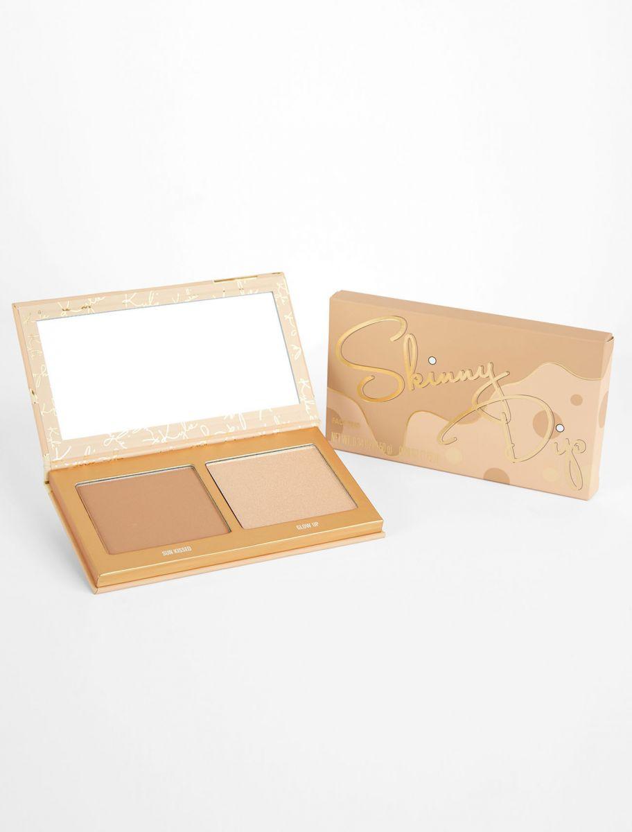 Палетка хайлайтер и бронзер Kylie Cosmetics -  SKINNY DIP | FACE DUO