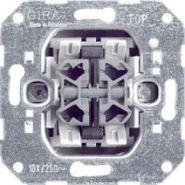 Gira Мех Выкл. кнопочный 2-х клавишный с 4 выходами