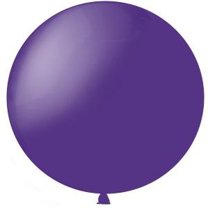 Метровый шар Пурпурный Полупрозрачный латексный с гелием
