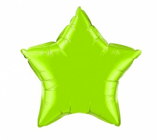 Звезда зелёная (яблоко) шар фольгированный с гелием