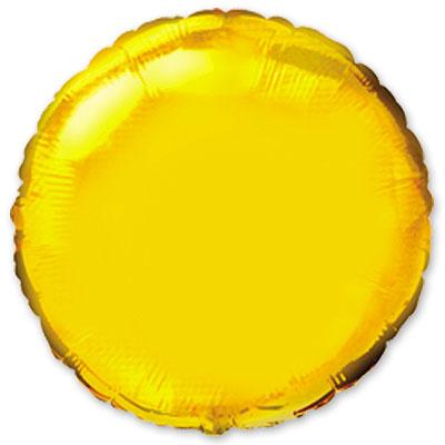Большой золотой круг шар фольгированный с гелием