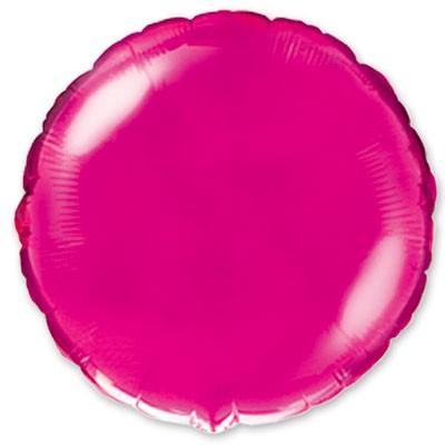Большой круг фуксия шар фольгированный с гелием