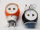 Сетевой адаптер на 3 гнезда 220В цветной АМ-001 16А