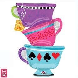 Чайные чашки фольгированный шар с гелием