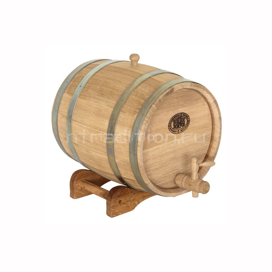Дубовая бочка для самогона, вина, коньяка (БонПос), 15 литров
