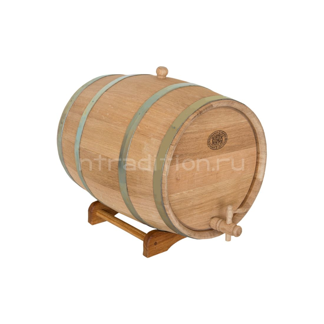 Дубовая бочка для самогона, вина, коньяка (БонПос), 30 литров