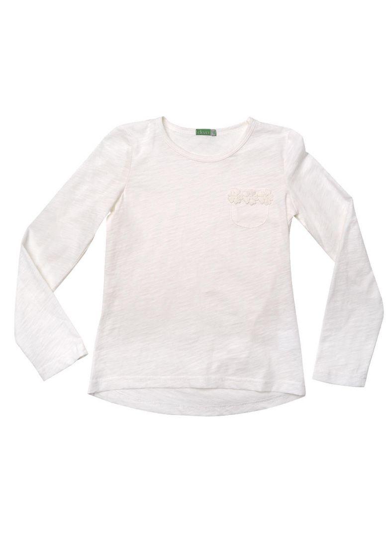 Джемпер для девочки молочного цвета