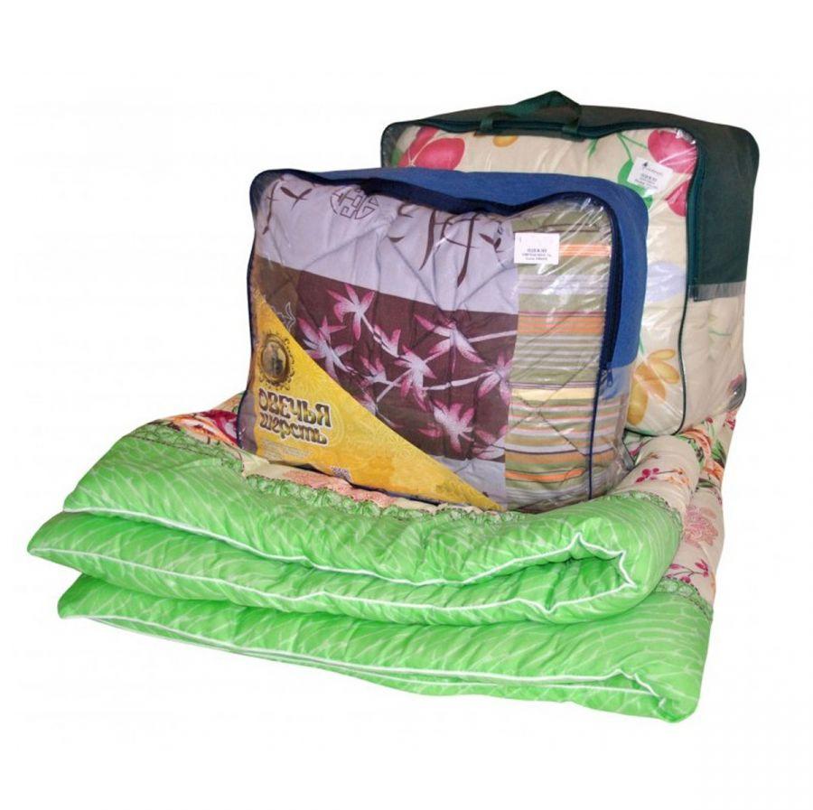Одеяло овечья шерсть в полиэстере, зима