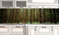 Фартук для кухни - Малахитовый лес купить в магазине Интерьерные наклейки