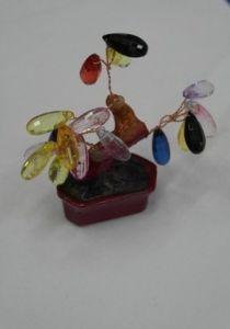 Дерево самоцветы стекло (8см.)