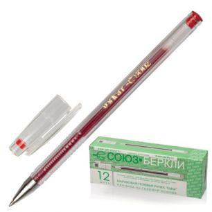 """Ручка гелевая СОЮЗ """"Oskar"""", корпус прозрачный, толщина письма 0,7 мм, красная, РГ 155-03"""