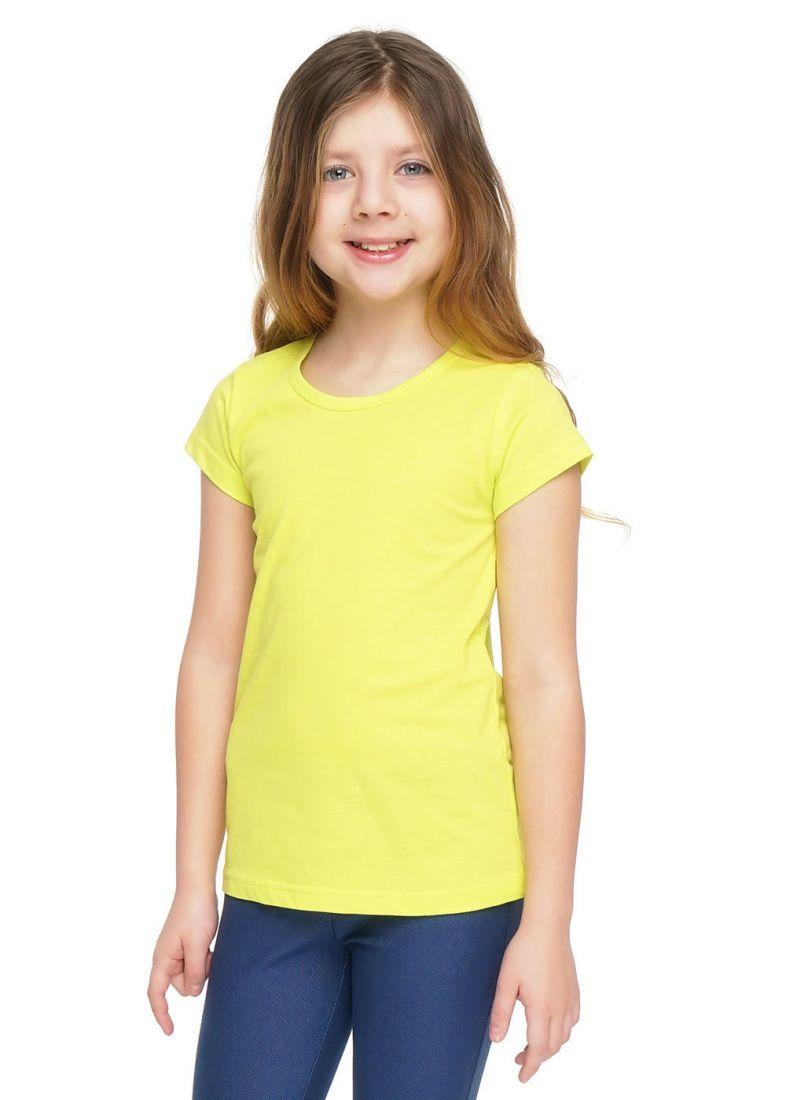 Футболка для девочки желтого цвета