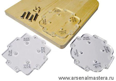 CMT TMP-R12 Набор угловых радиусных шаблонов для фрезерования 12 углов (3x4) для скругления углов от 3,2 до 25,4 мм