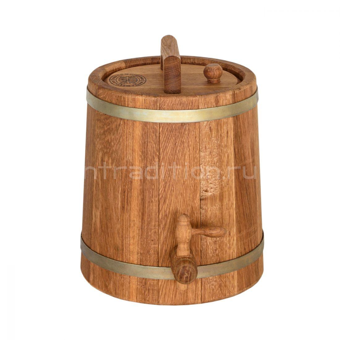 Дубовый жбан, 10 литров (вертикальный)