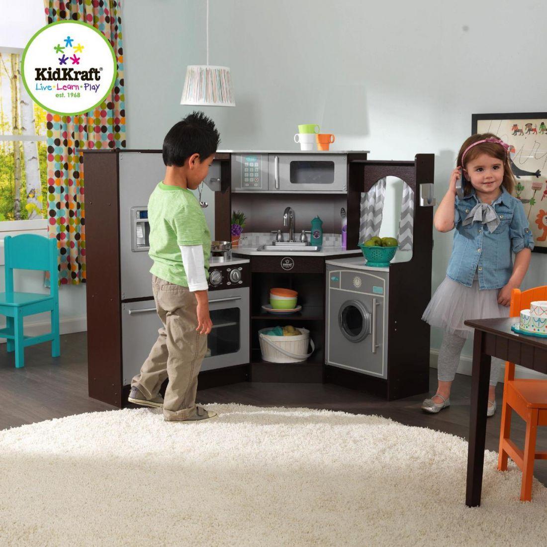 Детская угловая кухня KidKraft 53365 Espresso