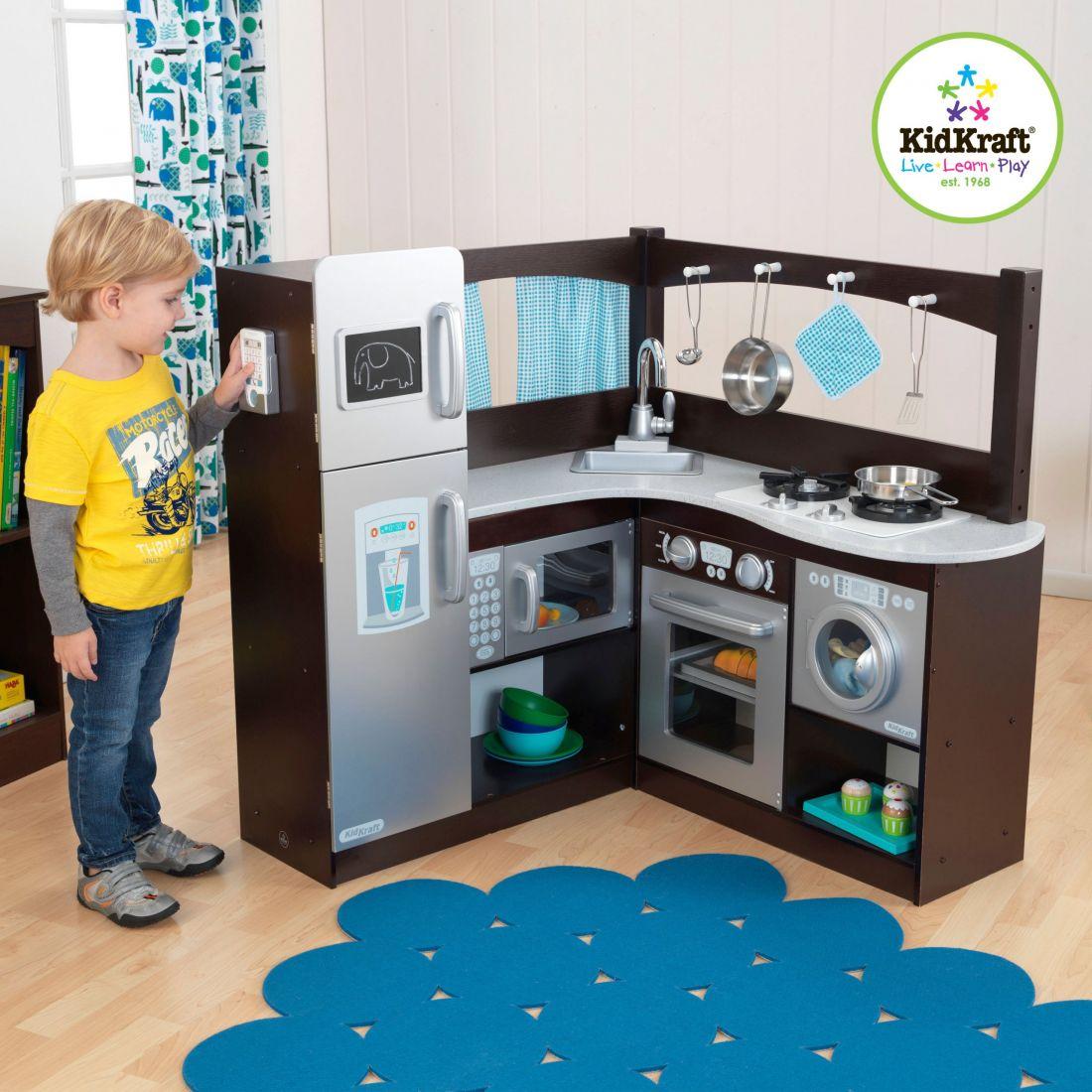 Детская кухня «эспрессо» угловая kidkraft 53302