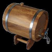 Дубовый жбан, 10 литров (обручи из нержавейки)