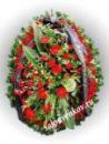 Элитный траурный венок из живых цветов №2, РАЗМЕР 100см,120см,140см,170см