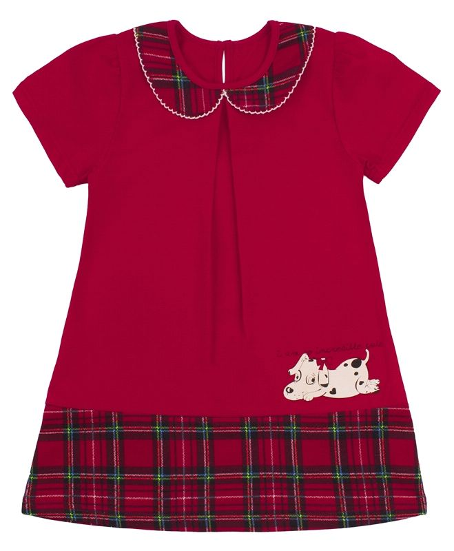 Платье для девочки Собачка с бантиком