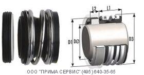 Торцовые уплотнения с резиновым сильфоном типа NM