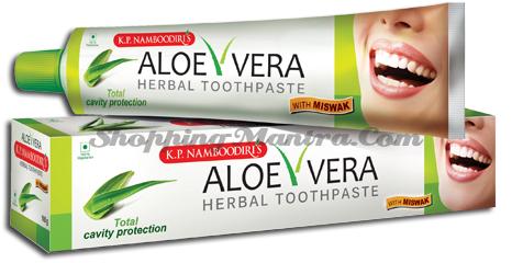 Зубная паста с алоэ вера К.П. Намбудирис | K.P. Namboodiri's Aloe Vera Herbal ToothPaste