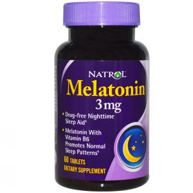 Natrol Melatonin 3 mg (60 табл.)