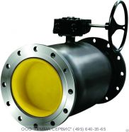 Кран шаровый (кран шаровой) LD КШЦФ Ду700 стальной фланцевый