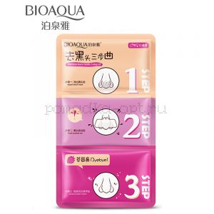 BIOAQUA Pig Nose Clear Black Head 3 Step роз