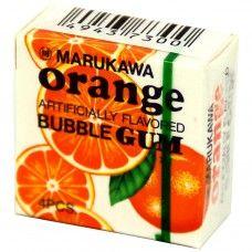 Жевательная резинка Marukawa Orange (Марукава) со вкусом апельсина 4 шарика