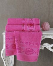 "Полотенце махровое ""KARNA"" REBEKA 50*90 см (розовый) Арт.2657-10"