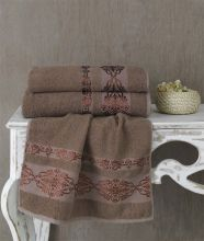 Полотенце махровое REBEKA 70*140(коричневый) Арт.2658-5