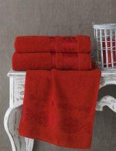 Полотенце махровое REBEKA 70*140(красный) Арт.2658-7