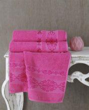Полотенце махровое REBEKA 70*140(розовый)  Арт.2658-10