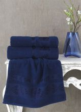 Полотенце махровое REBEKA 70*140(синий)  Арт.2658-12