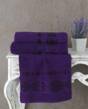 Полотенце махровое REBEKA 70*140(фиолетовый) Арт.2658-15