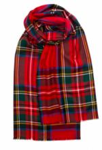 """шотландский тонкорунный легкий широкий палантин (шарф) Альба, 100% шерсть- тонкая нить мулине , расцветка  Королевский клан Стюарт. """"ALBA STEWART ROYAL"""" плотность 2"""